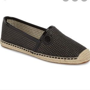 Michael Kors 8 Black Mesh Espadrille Shoes